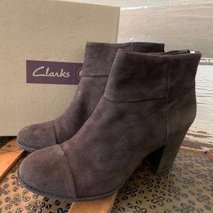 New Clarks Suede Booties